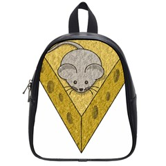 Cheese Rat Mouse Mice Food Cheesy School Bag (small) by Simbadda