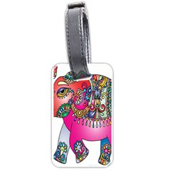 Elephant Pachyderm Animal Luggage Tags (one Side)