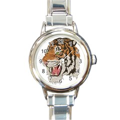 Tiger Tiger Png Lion Animal Round Italian Charm Watch
