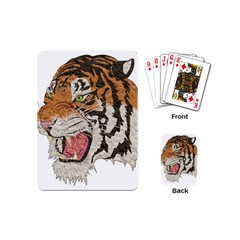 Tiger Tiger Png Lion Animal Playing Cards (mini)
