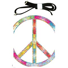 Flourish Decorative Peace Sign Shoulder Sling Bags