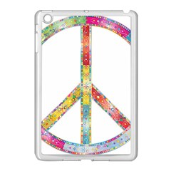 Flourish Decorative Peace Sign Apple Ipad Mini Case (white) by Simbadda