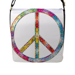Flourish Decorative Peace Sign Flap Messenger Bag (l)