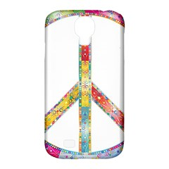 Flourish Decorative Peace Sign Samsung Galaxy S4 Classic Hardshell Case (pc+silicone)