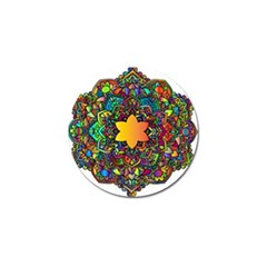 Mandala Floral Flower Abstract Golf Ball Marker (10 Pack)