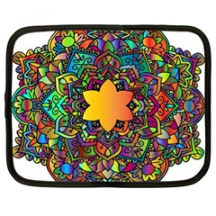 Mandala Floral Flower Abstract Netbook Case (xl)