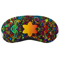 Mandala Floral Flower Abstract Sleeping Masks