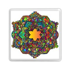 Mandala Floral Flower Abstract Memory Card Reader (square)