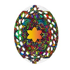Mandala Floral Flower Abstract Ornament (oval Filigree)