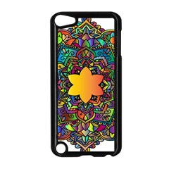 Mandala Floral Flower Abstract Apple Ipod Touch 5 Case (black) by Simbadda