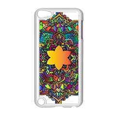 Mandala Floral Flower Abstract Apple Ipod Touch 5 Case (white)