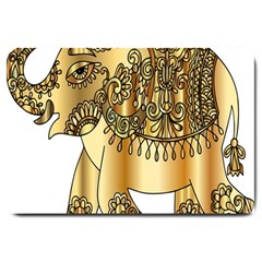 Gold Elephant Pachyderm Large Doormat  by Simbadda