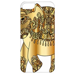 Gold Elephant Pachyderm Apple Iphone 5 Classic Hardshell Case