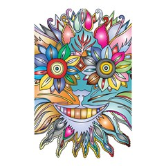 Anthropomorphic Flower Floral Plant Shower Curtain 48  X 72  (small)  by Simbadda