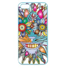 Anthropomorphic Flower Floral Plant Apple Seamless Iphone 5 Case (color)