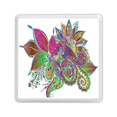 Floral Flowers Ornamental Memory Card Reader (square)