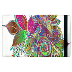 Floral Flowers Ornamental Apple Ipad 2 Flip Case by Simbadda
