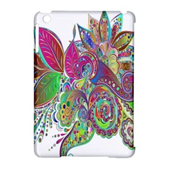 Floral Flowers Ornamental Apple Ipad Mini Hardshell Case (compatible With Smart Cover)