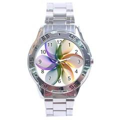 Abstract Geometric Line Art Stainless Steel Analogue Watch by Simbadda