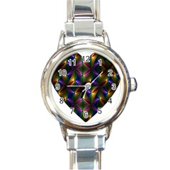 Heart Love Passion Abstract Art Round Italian Charm Watch by Simbadda