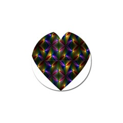 Heart Love Passion Abstract Art Golf Ball Marker (4 Pack) by Simbadda
