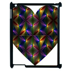 Heart Love Passion Abstract Art Apple Ipad 2 Case (black) by Simbadda