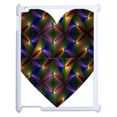 Heart Love Passion Abstract Art Apple Ipad 2 Case (white) by Simbadda