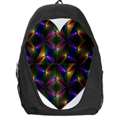 Heart Love Passion Abstract Art Backpack Bag by Simbadda
