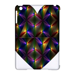 Heart Love Passion Abstract Art Apple Ipad Mini Hardshell Case (compatible With Smart Cover) by Simbadda