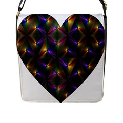 Heart Love Passion Abstract Art Flap Messenger Bag (l)  by Simbadda