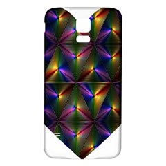 Heart Love Passion Abstract Art Samsung Galaxy S5 Back Case (white)