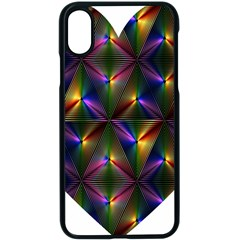 Heart Love Passion Abstract Art Apple Iphone X Seamless Case (black)