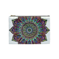 Mandala Decorative Ornamental Cosmetic Bag (medium)  by Simbadda