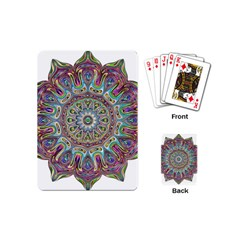 Mandala Decorative Ornamental Playing Cards (mini)  by Simbadda