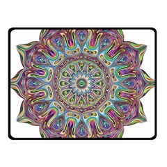 Mandala Decorative Ornamental Double Sided Fleece Blanket (small)  by Simbadda