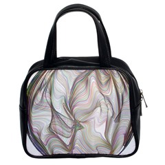 Abstract Geometric Line Art Classic Handbags (2 Sides)