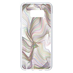 Abstract Geometric Line Art Samsung Galaxy S8 Plus White Seamless Case by Simbadda