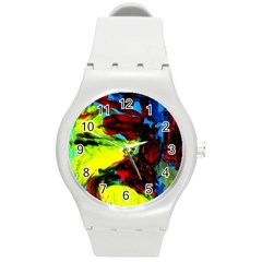 Perfect Night  For Samurai 1 Round Plastic Sport Watch (m) by bestdesignintheworld