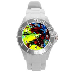 Perfect Night  For Samurai 1 Round Plastic Sport Watch (l) by bestdesignintheworld
