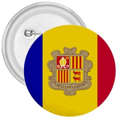 National Flag Of Andorra  3  Buttons by abbeyz71