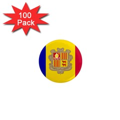 National Flag Of Andorra  1  Mini Magnets (100 Pack)  by abbeyz71