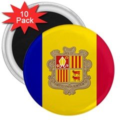 National Flag Of Andorra  3  Magnets (10 Pack)  by abbeyz71