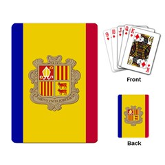 National Flag Of Andorra  Playing Card by abbeyz71