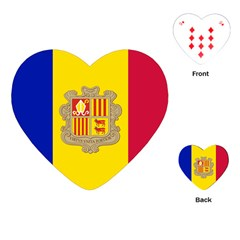 National Flag Of Andorra  Playing Cards (heart)  by abbeyz71