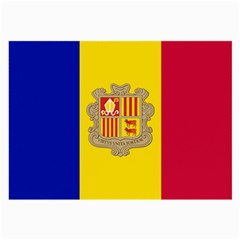 National Flag Of Andorra  Large Glasses Cloth (2 Side) by abbeyz71