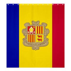 National Flag Of Andorra  Shower Curtain 66  X 72  (large)  by abbeyz71