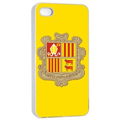 National Flag Of Andorra  Apple Iphone 4/4s Seamless Case (white) by abbeyz71