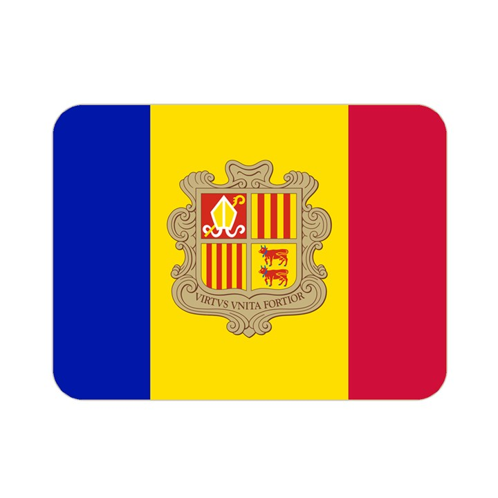 National Flag of Andorra  Double Sided Flano Blanket (Mini)