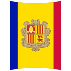 National Flag Of Andorra  Back Support Cushion by abbeyz71