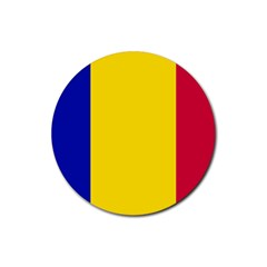 Civil Flag Of Andorra Rubber Round Coaster (4 Pack)  by abbeyz71